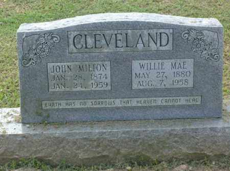 CLEVELAND, JOHN MILTON - Clark County, Arkansas | JOHN MILTON CLEVELAND - Arkansas Gravestone Photos