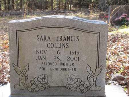 COLLINS, SARA FRANCIS - Clark County, Arkansas   SARA FRANCIS COLLINS - Arkansas Gravestone Photos