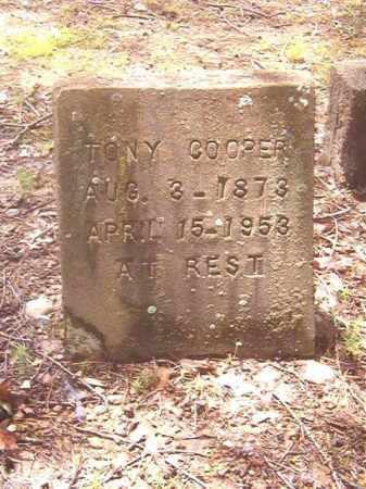 COOPER, TONY - Clark County, Arkansas | TONY COOPER - Arkansas Gravestone Photos