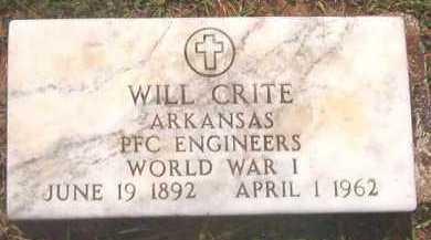 CRITE (VETERAN WWI), WILL - Clark County, Arkansas | WILL CRITE (VETERAN WWI) - Arkansas Gravestone Photos