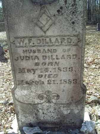 DILLARD, WILLIAM FRANK (CLOSE UP) - Clark County, Arkansas | WILLIAM FRANK (CLOSE UP) DILLARD - Arkansas Gravestone Photos
