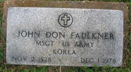 FAULKNER (VETERAN KOR), JOHN DON - Clark County, Arkansas   JOHN DON FAULKNER (VETERAN KOR) - Arkansas Gravestone Photos