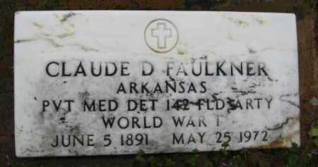 FAULKNER (VETERAN WWI), CLAUDE DAVID - Clark County, Arkansas | CLAUDE DAVID FAULKNER (VETERAN WWI) - Arkansas Gravestone Photos