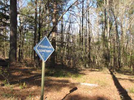 *FRANKLIN CEMETERY, SIGN - Clark County, Arkansas   SIGN *FRANKLIN CEMETERY - Arkansas Gravestone Photos