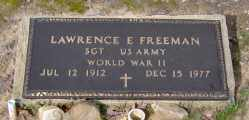 FREEMAN  (VETERAN WWII), LAWRENCE E - Clark County, Arkansas   LAWRENCE E FREEMAN  (VETERAN WWII) - Arkansas Gravestone Photos