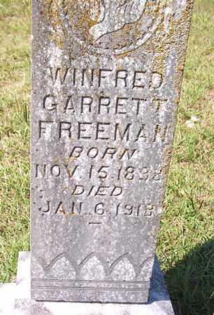 FREEMAN, WINFRED GARRETT - Clark County, Arkansas   WINFRED GARRETT FREEMAN - Arkansas Gravestone Photos