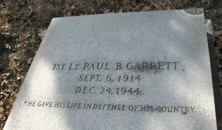 GARRETT (VETERAN WWII KIA), PAUL B (CLOSE UP) - Clark County, Arkansas | PAUL B (CLOSE UP) GARRETT (VETERAN WWII KIA) - Arkansas Gravestone Photos