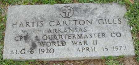 GILLS (VETERAN WWII), HARTIS CARLTON - Clark County, Arkansas   HARTIS CARLTON GILLS (VETERAN WWII) - Arkansas Gravestone Photos