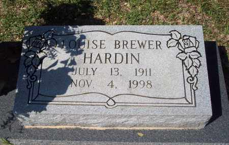 BREWER HARDIN, LOUISE - Clark County, Arkansas | LOUISE BREWER HARDIN - Arkansas Gravestone Photos