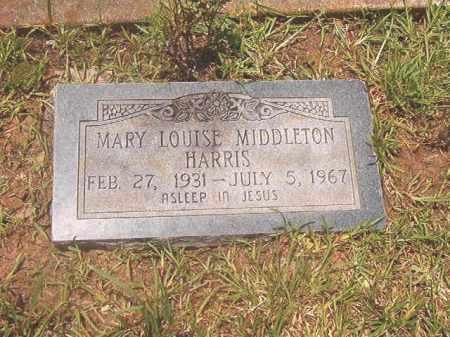 MIDDLETON HARRIS, MARY LOUISE - Clark County, Arkansas | MARY LOUISE MIDDLETON HARRIS - Arkansas Gravestone Photos