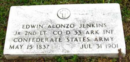 JENKINS, JR (VETERAN CSA), EDWIN ALONZO - Clark County, Arkansas | EDWIN ALONZO JENKINS, JR (VETERAN CSA) - Arkansas Gravestone Photos
