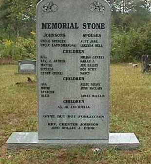 JOHNSON FAMILY, MEMORIAL STONE - Clark County, Arkansas | MEMORIAL STONE JOHNSON FAMILY - Arkansas Gravestone Photos
