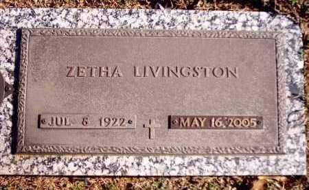LIVINGSTON, ZETHA - Clark County, Arkansas   ZETHA LIVINGSTON - Arkansas Gravestone Photos