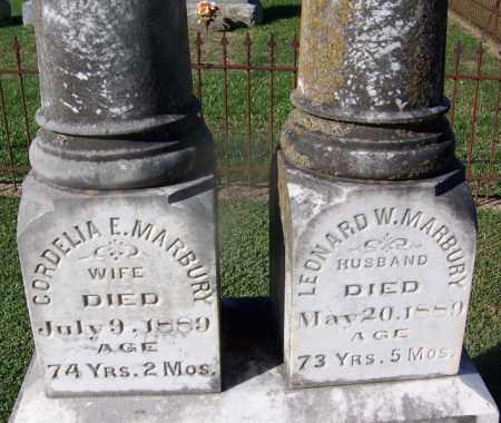 MARBURY (VETERAN CSA), LEONARD W. - Clark County, Arkansas   LEONARD W. MARBURY (VETERAN CSA) - Arkansas Gravestone Photos