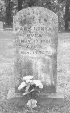 RUNYAN, MARY - Clark County, Arkansas   MARY RUNYAN - Arkansas Gravestone Photos