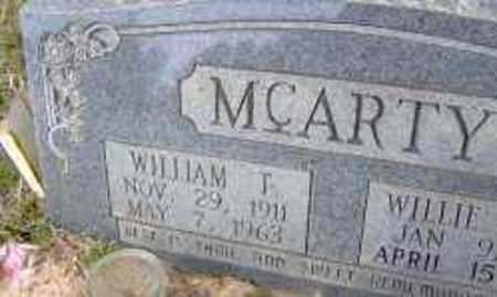 MCARTY, WILLIAM T. (CLOSE UP) - Clark County, Arkansas | WILLIAM T. (CLOSE UP) MCARTY - Arkansas Gravestone Photos