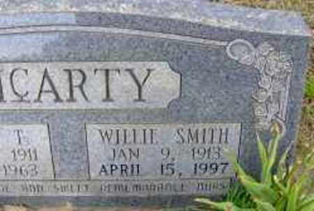 SMITH MCARTY, WILLIE (CLOSE UP) - Clark County, Arkansas | WILLIE (CLOSE UP) SMITH MCARTY - Arkansas Gravestone Photos