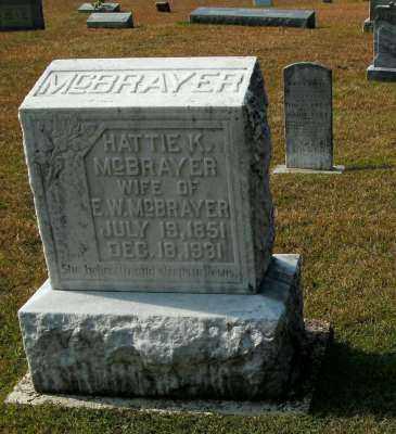 MCBRAYER, HATTIE K. - Clark County, Arkansas   HATTIE K. MCBRAYER - Arkansas Gravestone Photos