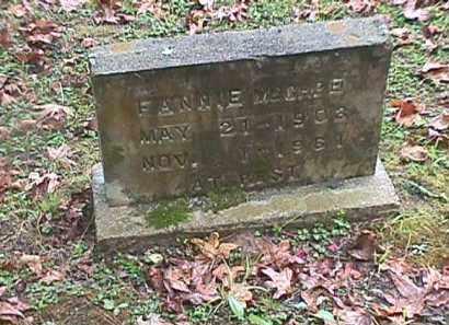 MGGHEE, FANNIE - Clark County, Arkansas | FANNIE MGGHEE - Arkansas Gravestone Photos