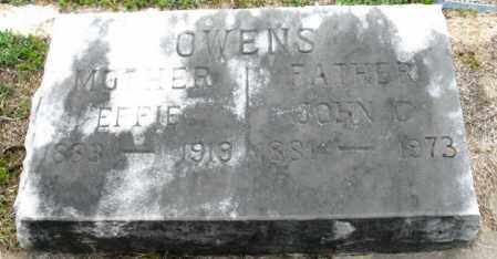 OWENS, EFFIE - Clark County, Arkansas | EFFIE OWENS - Arkansas Gravestone Photos