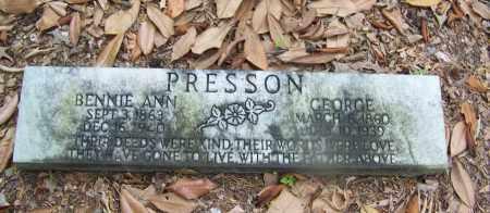 PRESSON, GEORGE - Clark County, Arkansas | GEORGE PRESSON - Arkansas Gravestone Photos