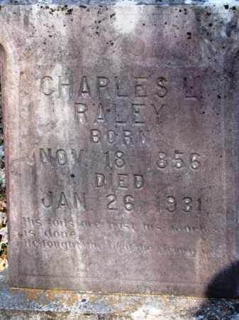 RALEY, CHARLES LARKIN - Clark County, Arkansas | CHARLES LARKIN RALEY - Arkansas Gravestone Photos
