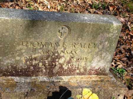 RALEY (VETERAN WWI), THOMAS ELBERT - Clark County, Arkansas | THOMAS ELBERT RALEY (VETERAN WWI) - Arkansas Gravestone Photos
