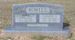 ROWLES, EARNEST S. - Clark County, Arkansas | EARNEST S. ROWLES - Arkansas Gravestone Photos
