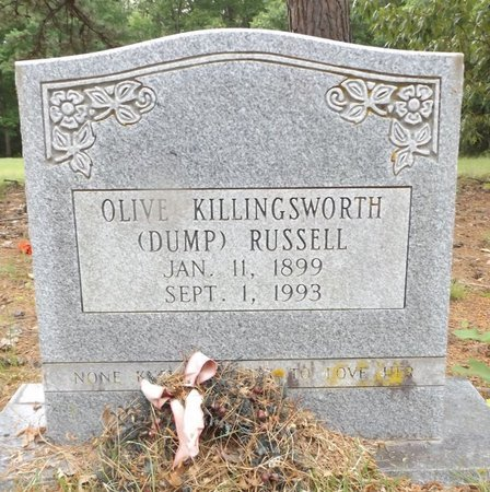 KILLINGSWORTH RUSSELL, OLIVE - Clark County, Arkansas   OLIVE KILLINGSWORTH RUSSELL - Arkansas Gravestone Photos