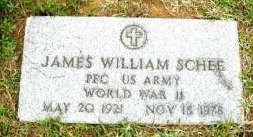 SCHEE (VETERAN WWII), JAMES WILLIAM - Clark County, Arkansas | JAMES WILLIAM SCHEE (VETERAN WWII) - Arkansas Gravestone Photos