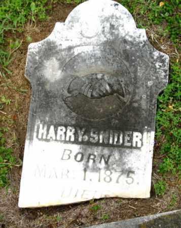 SNIDER, HARRY - Clark County, Arkansas   HARRY SNIDER - Arkansas Gravestone Photos
