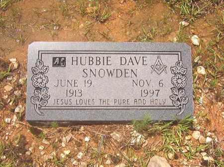 SNOWDEN, HUBBIE DAVE - Clark County, Arkansas | HUBBIE DAVE SNOWDEN - Arkansas Gravestone Photos