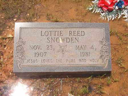 REED SNOWDEN, LOTTIE - Clark County, Arkansas | LOTTIE REED SNOWDEN - Arkansas Gravestone Photos