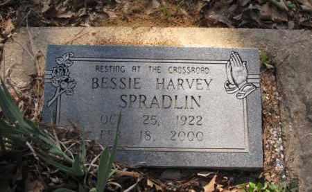 HARVEY SPRADLIN, BESSIE - Clark County, Arkansas | BESSIE HARVEY SPRADLIN - Arkansas Gravestone Photos