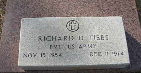 TIBBS (VETERAN), RICHARD D. - Clark County, Arkansas | RICHARD D. TIBBS (VETERAN) - Arkansas Gravestone Photos