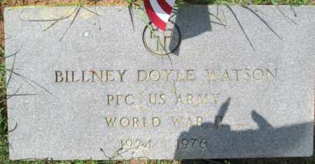 WATSON (VETERAN WWII), BILLNEY DOYLE - Clark County, Arkansas   BILLNEY DOYLE WATSON (VETERAN WWII) - Arkansas Gravestone Photos