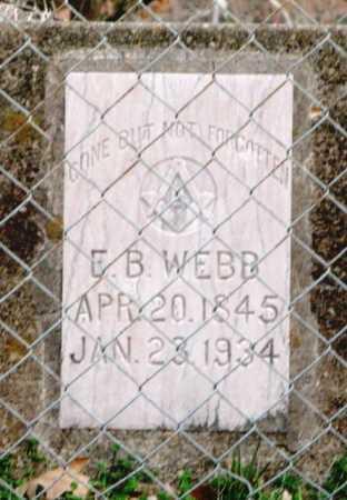 WEBB, ELIJAH B. - Clark County, Arkansas   ELIJAH B. WEBB - Arkansas Gravestone Photos