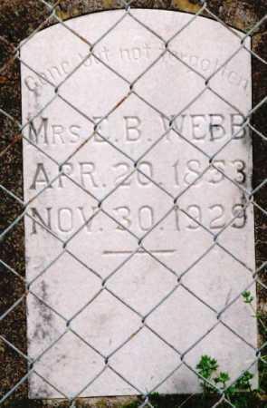 WEBB, ELIZA J. (MRS. E.B.) - Clark County, Arkansas   ELIZA J. (MRS. E.B.) WEBB - Arkansas Gravestone Photos
