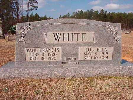 WHITE, PAUL FRANCIS - Clark County, Arkansas | PAUL FRANCIS WHITE - Arkansas Gravestone Photos
