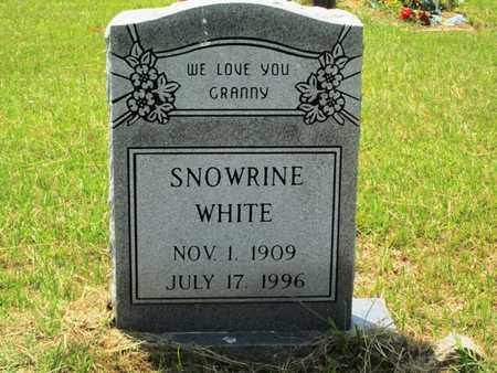 WHITE, SNOWRINE - Clark County, Arkansas | SNOWRINE WHITE - Arkansas Gravestone Photos