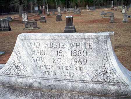 WHITE, SID ABBIE - Clark County, Arkansas   SID ABBIE WHITE - Arkansas Gravestone Photos