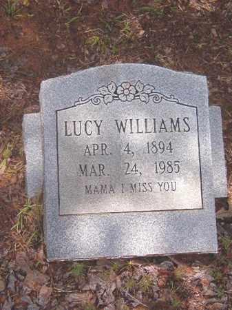 WILLIAMS, LUCY - Clark County, Arkansas   LUCY WILLIAMS - Arkansas Gravestone Photos