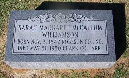 WILLIAMSON, SARAH MARGARET - Clark County, Arkansas | SARAH MARGARET WILLIAMSON - Arkansas Gravestone Photos