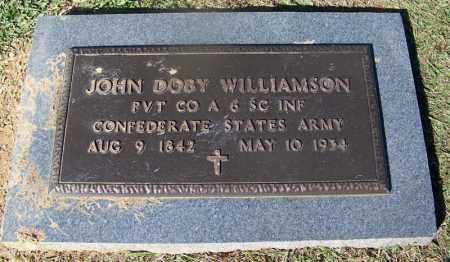 WILLIAMSON (VETERAN CSA), JOHN DOBY - Clark County, Arkansas   JOHN DOBY WILLIAMSON (VETERAN CSA) - Arkansas Gravestone Photos