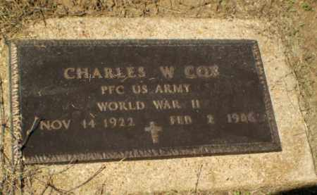 COX (VETERAN WWII), CHARLES W - Clay County, Arkansas | CHARLES W COX (VETERAN WWII) - Arkansas Gravestone Photos