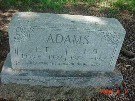ADAMS, E THOMAS - Clay County, Arkansas   E THOMAS ADAMS - Arkansas Gravestone Photos