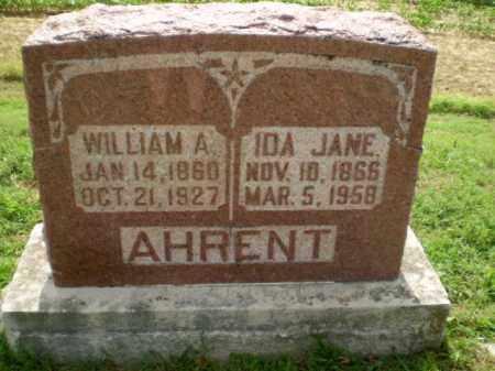 AHRENT, IDA JANE - Clay County, Arkansas   IDA JANE AHRENT - Arkansas Gravestone Photos