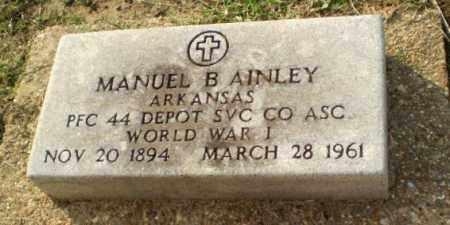 AINLEY  (VETERAN WWI), MANUEL B - Clay County, Arkansas | MANUEL B AINLEY  (VETERAN WWI) - Arkansas Gravestone Photos