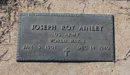 AINLEY (VETERAN WWI), JOSEPH ROY - Clay County, Arkansas | JOSEPH ROY AINLEY (VETERAN WWI) - Arkansas Gravestone Photos