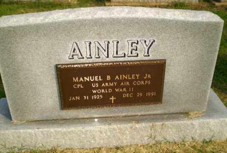 AINLEY, JR (VETERAN WWII), MANUEL B - Clay County, Arkansas   MANUEL B AINLEY, JR (VETERAN WWII) - Arkansas Gravestone Photos